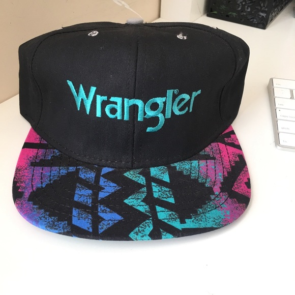 057b8f8c7 Vintage Wrangler Colorful Print Hat